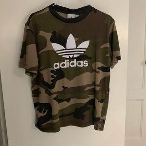 Adidas Camouflage shirt size small
